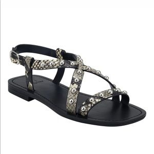 Marc Fisher Fianna Studded Leather Sandals